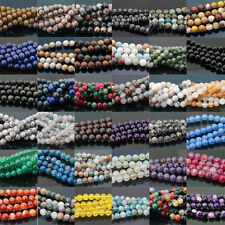 Wholesale Natural Gemstone Round Spacer Loose Beads 4/6/8/10/12