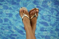 IPANEMA JELLY SANDAL WOMEN SHOES FLIP FLOP THONG CHROME METAL by VICTORIA ADAMES