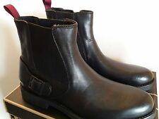 New Clarks Norton Spin Men's Black Leather Motorcycle Boots 11