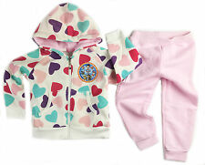 GS GIRLS KIDS PAW PATROL WINTER TRACKSUIT HEART-PINK HOODIE JACKET OUTFIT SET