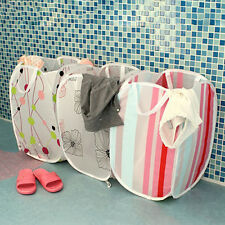 1PCS Printed Folding Laundry Basket Clothes Storage Easy Basket Portable For Toy