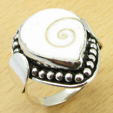 SHIVA EYE Natural Gem ! 925 Silver Overlay DECO Ring Size UK S WHOLESALE PRICE