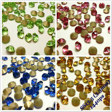SS13.5 (3.3mm) Rhinestones Pointback Crystal Glass Strass Chaton Nail Art 1440ps