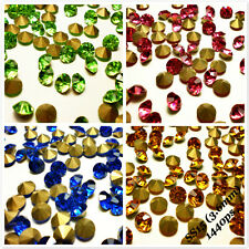SS15 (3.6mm) Rhinestones Pointback Crystal Glass Strass Chaton Nail Art 1440ps