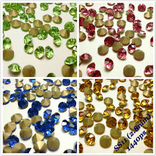 SS11 (2.8mm) Point back Rhinestones Crystal Glass Strass Chaton Nail Art 1440ps