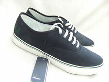 NEW FRED PERRY B5274 CLARENCE MENS NAVY BLUE CANVAS TRAINERS SIZE 8 EU 42