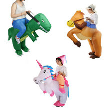 Funny Adult Inflatable Dinosaur Horse Riding Cowboy Unicorn Fancy Dress Suit