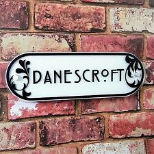 PERSONALISED House Plaque Address Number Sign Name Door Decorative Glass Effect