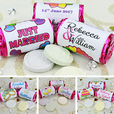 Personalised Mini Love Hearts Rolls   Wedding Favour Sweets   Party Gift Bag