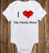 I Love My Nerdy Mommy Onesie Baby Girl clothes - Unisex Baby Shower Gift Infant