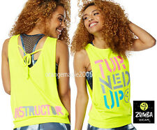 "ZUMBA INSTRUCTOR ""Turned Up Instructor Loose Tank"" Racerback ZIN Exclusive-S M L"