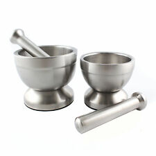 Stainless Steel Mortar and Pestle Garlic Pugging Pot Pharmacy Bowl +Buckle