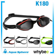 AQUA SPHERE K180 MENS SWIMMING GOGGLES- SWIM GOGGLES Red Yellow Silver + More