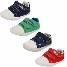 Infant Boys Clarks Canvas Doodles Little Chap