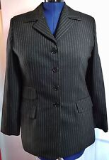 Evan Picone Womans Black Pinstripe Suit Jacket Career Work Office Size 10
