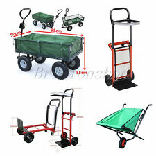 Panana Heavy Duty Garden Trolley Cart Sack Truck Wheel Transport Wheelbarrow