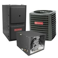 2 Ton 13 SEER 96% AFUE Two Stage Gas Furnace & Air Conditioner System Horizontal