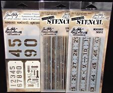 Tim Holtz Stencil Collection Measured Stripes Numbered & Arrows You Pick We ship