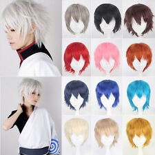 Short Layered Straight Up Hair Full Wig Heat Resistant Anime Cosplay Party Wigs
