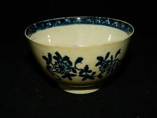Antique 18th century English blue & white Lowestoft / Liverpool pottery tea bowl