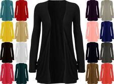LADIES LONG SLEEVE WOMENS BOYFRIEND WITH POCKETS CARDIGAN PLUS SIZE 16-26