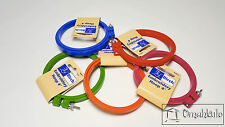 "BIRCH 4"" - 10cm Embroidery/Cross Stitch Hoop - Plastic - Various Colours"