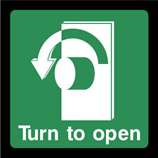 Turn Left To Open Sign