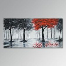 Handmade Landscape oil painting Modern Wall Art  on Canvas - Forest (no frame)