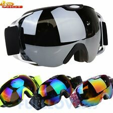 Unisex Double Lens UV400 Anti-fog Spherical Ski Snowboard Skiing Glasses Goggle#