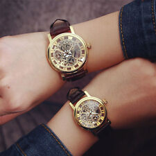 Fashion Transparent Hollow Quartz Wrist Watch Men Women Skeleton Couple Watches