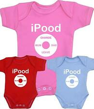 BabyPrem Baby Clothes iPOOD Creeper One-Piece Creeper Funny Slogan Shower Gifts