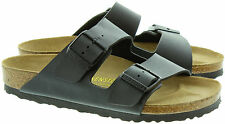 BIRKENSTOCK ARIZONA  GIZEH  PATENT WHITE / BLACK Arizona Soft Footbed NEW L M 32