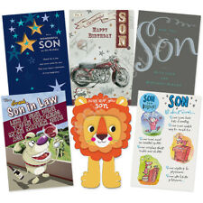 Son Stepson Son in Law Happy Birthday Card Greeting Cards