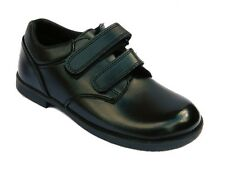 Boys Black School Shoes Leather Formal Kid Size 9 10 12 13 1 2 3 Toughees