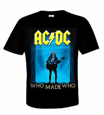 AC/DC T-Shirt Who Made Who Heavy Metal Australian Rock N ROLL ANGUS YOUNG