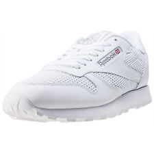 Reebok Classic Leather Knit Mens Trainers White New Shoes