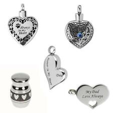 Love Heart Cremation Urn Jewelry Pendant Necklace Keepsake Ash Holder +Funnel