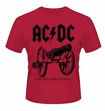 AC/DC T-Shirt FOR THOSE ABOUT TO ROCK ♫ Rote Special edition ♪ N Roll ♫ ACDC