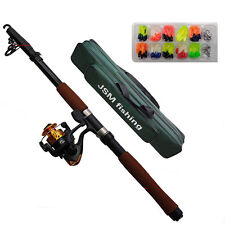 2.1M/2.4M Telescopic Fishing Rod and Reel Combos Fishing Rod Reel Kit with Lures