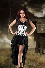 Gothic Steampunk Burlesque Neo Victorian Satin Bustle Skirt Rock 38 40 42 44 46