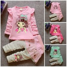 baby Girls clothes cotton spring summer outfits Top+pants baby  sweet girl
