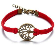 Fashion Rope Velvet Leather Bracelet Metal Tree Pendant Bracelet