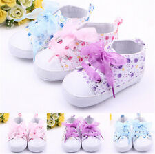 Baby Shoes Girls Cotton Floral Infant Soft Sole First Walker Toddler Shoe NT