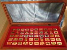 8852Great American Railroads Ingot Collection Case Franklin Mint Sterling Silver