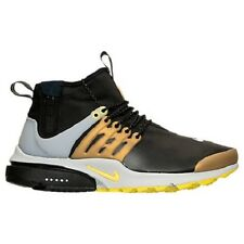 NEW MENS NIKE AIR PRESTO UTILITY MID RUNNING SHOES 859524  002 BLACK YELLOW GOLD