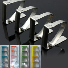 4pcs Stainless Steel Tablecloth Table Cover Clips Holder Clamps Party Picnic
