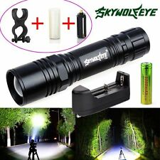 5000LM Tactical Zoom XM-L T6 LED Flashlight Torch Lamp 18650 Battery Charger HOT