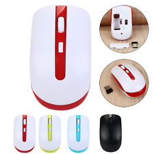 Slim 2.4 GHz Wireless Optical Mouse Mice  USB Receiver For Macbook PC Laptop NEW