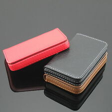 New Pocket PU Leather Business ID Credit Card Holder Case Wallet For Womens Mens