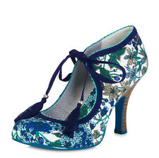 Ruby Shoo NEW Willow blue green floral high heel fashion shoes sizes 3-9